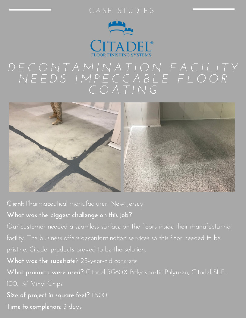 Case Study Facility In Need Of Floor Coating